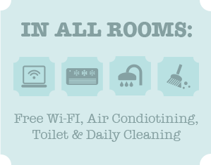 in all rooms: a free wifi and more