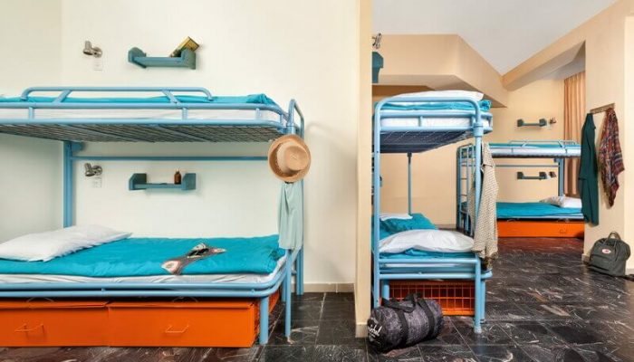 dorm room for 10 people